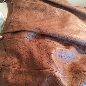GUCCI EXTRA LARGE LEATHER TOTE